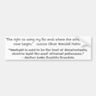 Justice Quotes Car Bumper Sticker