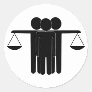 Justice Round Stickers