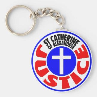 Justice - Saint Catherine of Alexandria Keychain
