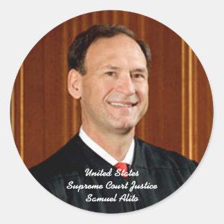 Justice Samuel Alito Classic Round Sticker