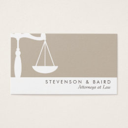 Justice Scale  Attorney Business Card