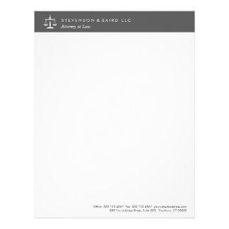 modern attorney letterhead