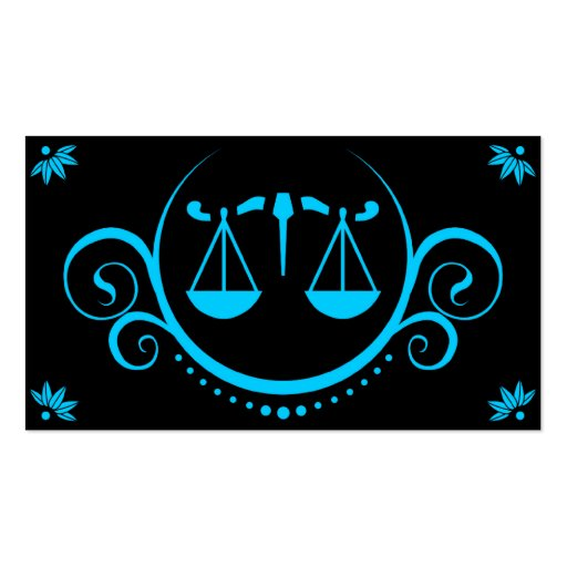 justice scale sophistications business card template