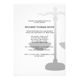 Justice Scale You Pick Background Color Invitation