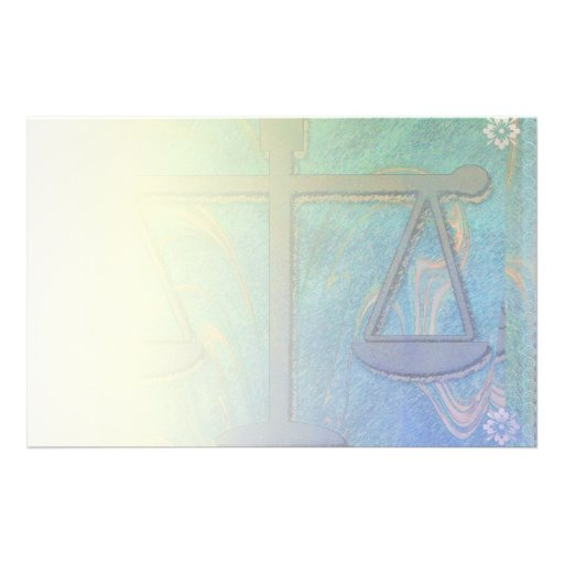 Justice Scales Blue Blend Stationery