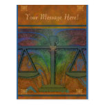 Justice Scales Elegant Postcard
