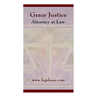 Justice Scales Elegant Purple Double-Sided Standard Business Cards (Pack Of 100)