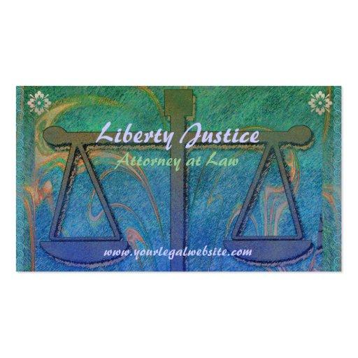 Justice Scales Nouveau Business Card