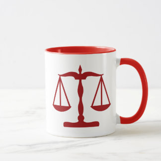Justice Scales ~ Red Mug