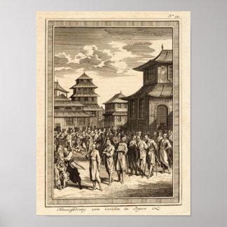 Justice Scene, Japan, Nicolaus 1748 Reproduction Print