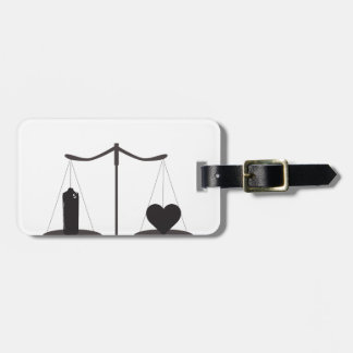 justice spray can heart bag tag