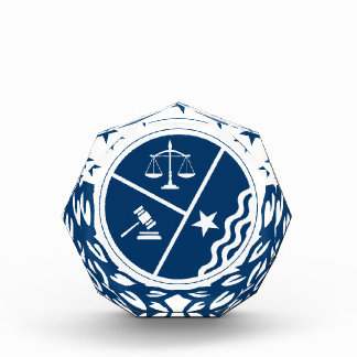 Justice Supporter Crest Acrylic Award