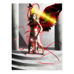 Justice Tarot Card Art Postcard