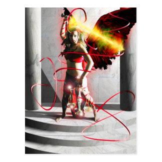 Justice Tarot Card Art Post Card