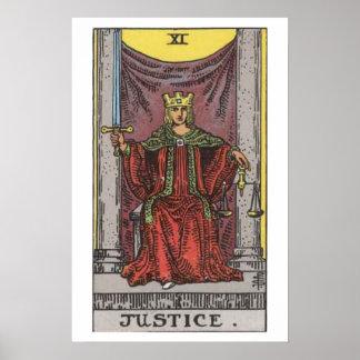 Justice Tarot Card Poster