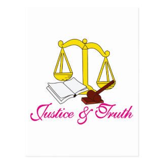 Justice & Truth Postcard