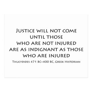 """Justice will not come..."" Post Card"