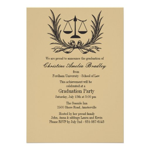 Law School Graduation Invitations can inspire you to create best invitation template