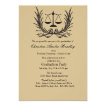 Justice Wreath Law School Graduation Invitation