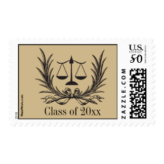 Justice Wreath Law School Postage Stamp
