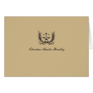 attorney at law note cards zazzle