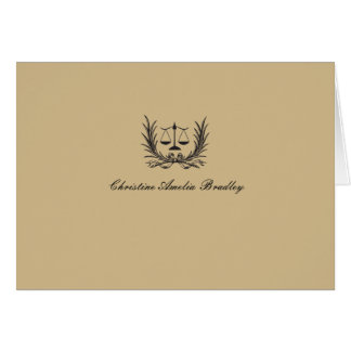 Justice Wreath Photo Personal. Notecard/Thank You Stationery Note Card