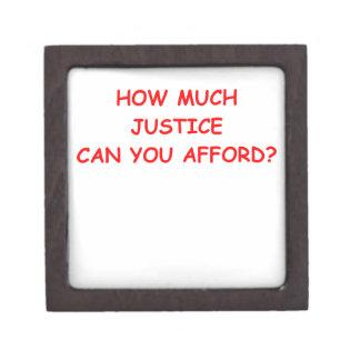 justicia caja de joyas de calidad