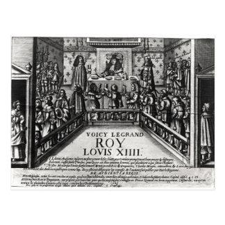 Justicia de administración de Louis XIV Tarjetas Postales