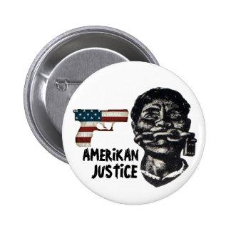 Justicia de Amerikan Pin Redondo De 2 Pulgadas