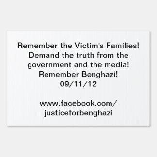 justicia de Bengasi de la muestra de la yarda Señales