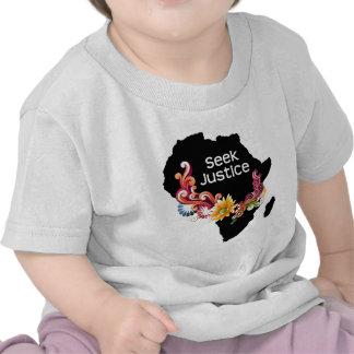 Justicia de la búsqueda camisetas