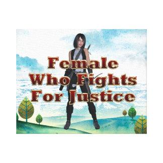 Justicia de la hembra de la CAMISETA Lona Estirada Galerias