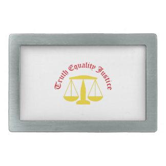 Justicia de la igualdad de la verdad hebilla de cinturon rectangular