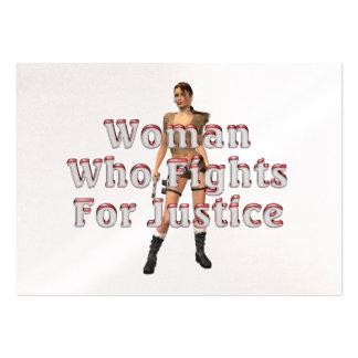 Justicia de la mujer de la CAMISETA Tarjetas De Visita Grandes