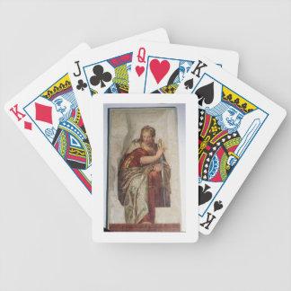 Justicia, de las paredes de la sacristía (fresco) baraja de cartas bicycle