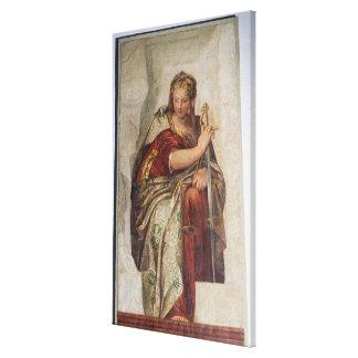 Justicia, de las paredes de la sacristía (fresco) impresiones en lona