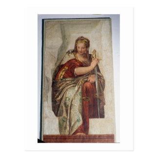 Justicia, de las paredes de la sacristía (fresco) postal
