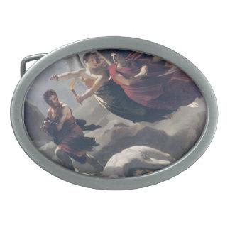 Justicia de Pedro Prud'hon- y venganza divina Hebilla Cinturon Oval