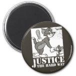 Justicia de Tom y Jerry la manera dura Imán Redondo 5 Cm