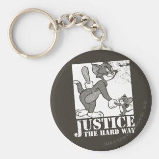 Justicia de Tom y Jerry la manera dura Llavero Personalizado