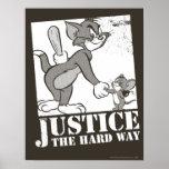 Justicia de Tom y Jerry la manera dura Póster