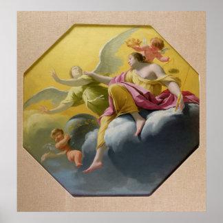 Justicia, de una serie del cardenal cuatro posters