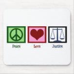 Justicia del amor de la paz alfombrillas de ratones