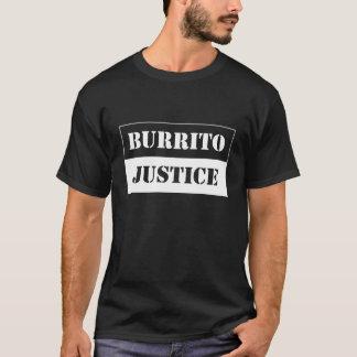 justicia del burrito - blanco en fondo oscuro playera