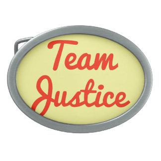 Justicia del equipo hebillas cinturon