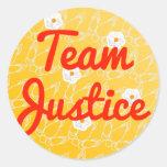 Justicia del equipo pegatina redonda