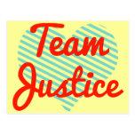 Justicia del equipo postal