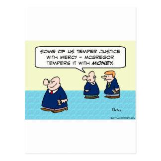 Justicia del genio del juez con el dinero de la mi postal