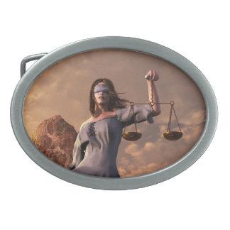 Justicia Hebillas Cinturón Ovales