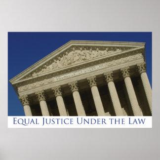 Justicia igual bajo ley posters
